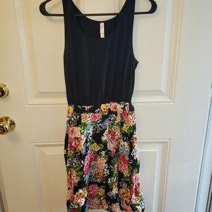 Xhilaration Black and Floral Dress